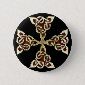 Golden Celtic Cross Button