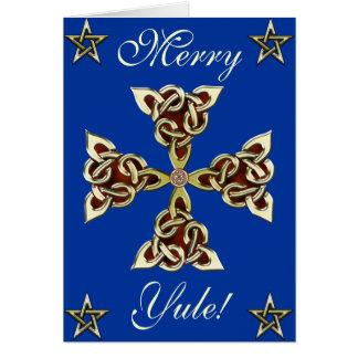 Golden Celtic Cross Card