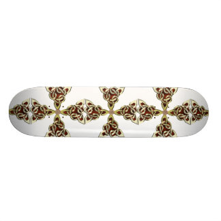 Golden Celtic Cross Skateboard