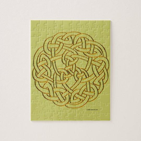Golden Celtic Knot Jigsaw Puzzle