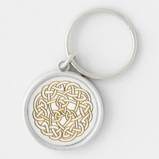 Golden Celtic Knot Keychain