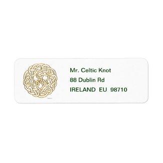 Golden Celtic Knot Label