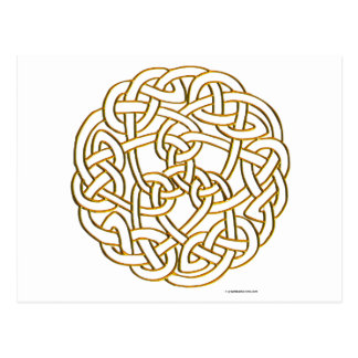 Golden Celtic Knot Postcard
