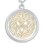 Golden Celtic Knot Silver Plated Necklace