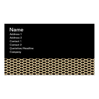 Golden chain pattern Double-Sided standard business cards (Pack of 100)