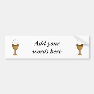 Golden Chalice and Host - Holy Communion Bumper Sticker