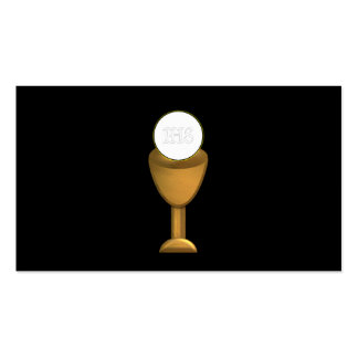 Golden Chalice and Host - Holy Communion Business Card