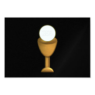 Golden Chalice and Host - Holy Communion Card