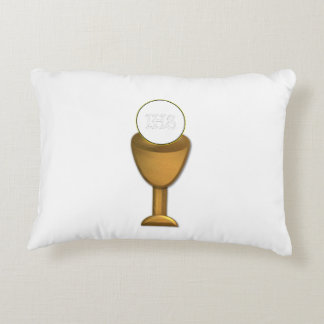 Golden Chalice and Host - Holy Communion Decorative Pillow