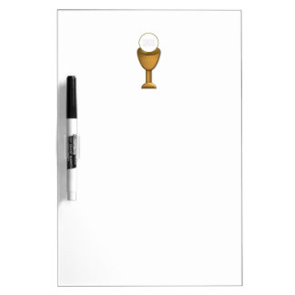 Golden Chalice and Host - Holy Communion Dry-Erase Board