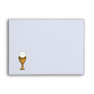 Golden Chalice and Host - Holy Communion Envelope