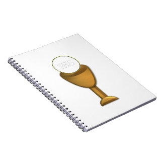 Golden Chalice and Host - Holy Communion Notebook