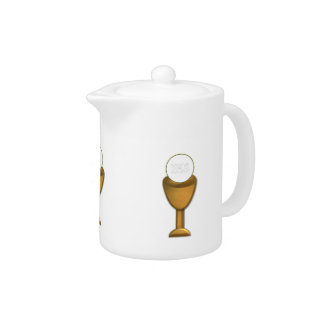 Golden Chalice and Host - Holy Communion Teapot