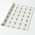 Golden Chalice and Host - Holy Communion Wrapping Paper