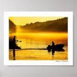 Golden Chattahoochee River Sunrise - Mini Poster