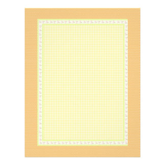 Golden  Check Squares  : Special Soft Colors Letterhead