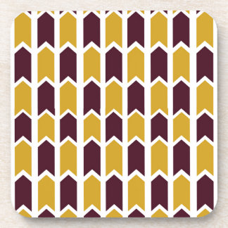 Golden Checkered Panel Fence Coaster