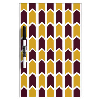 Golden Checkered Panel Fence Dry-Erase Board
