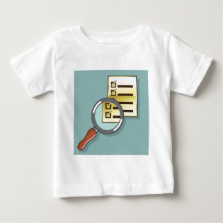 Golden Checklist Magnifying glass zoom Vector Baby T-Shirt