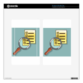 Golden Checklist Magnifying glass zoom Vector Kindle Fire Skin