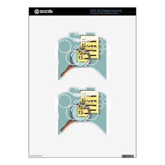 Golden Checklist Magnifying glass zoom Vector Xbox 360 Controller Skin