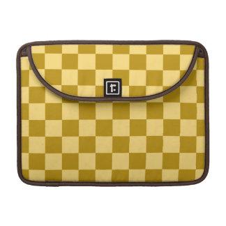 Golden Checks Sleeve For MacBooks