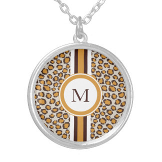 golden cheetah print  with monogram custom jewelry