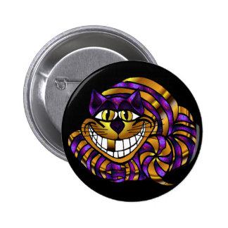Golden Cheshire Cat Button