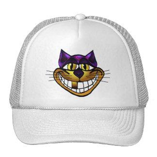 Golden Cheshire Cat Cap Trucker Hat
