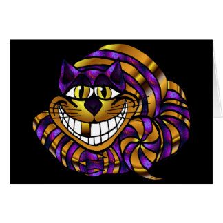 Golden Cheshire Cat Greeting Card