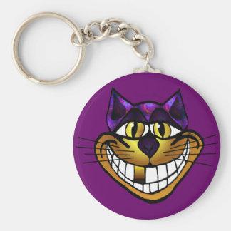 Golden Cheshire Cat Keychain