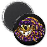 Golden Cheshire Cat Magnet