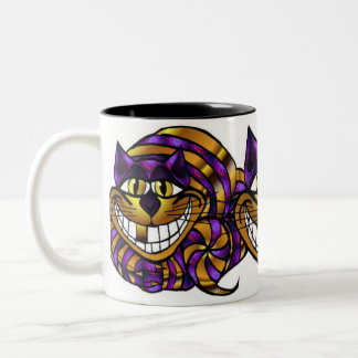 Golden Cheshire Cat Mug