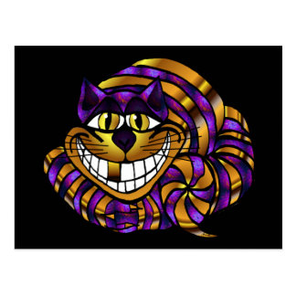 Golden Cheshire Cat Postcard