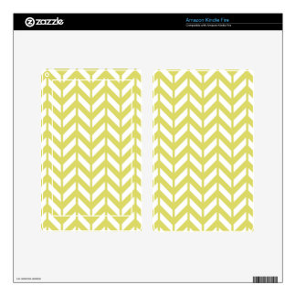 Golden Chevron 4 Decals For Kindle Fire