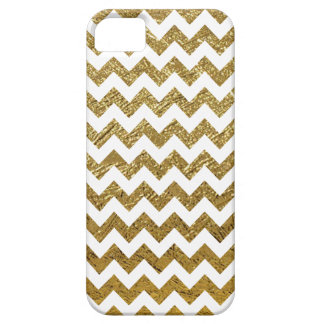 golden chevron stripes pattern iPhone 5 cover