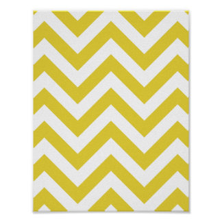 golden chevrons  zigzag pattern poster
