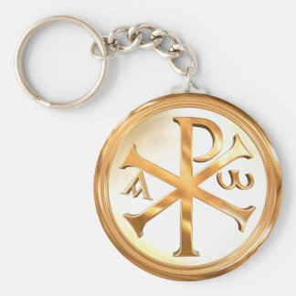 Golden Chi-Rho Keychain