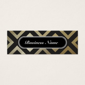Golden Chic Graphic Square Pattern Mini Business Card