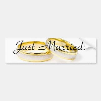 Golden Chic Stylish Bridal Shower Car Bumper Sticker
