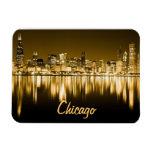 Golden Chicago Skyline Magnet at Zazzle