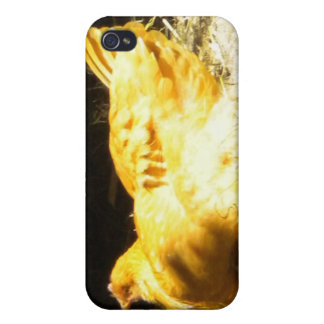 Golden Chicken Cover For iPhone 4