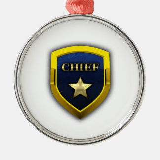 Golden Chief Badge Metal Ornament