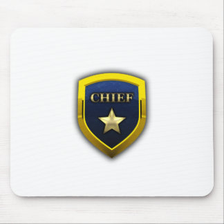 Golden Chief Badge Mouse Pad