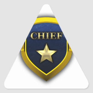 Golden Chief Badge Stickers
