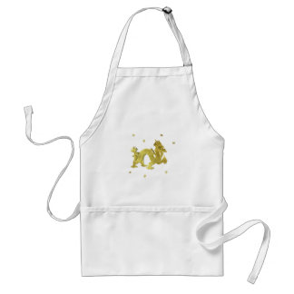 Golden Chinese Dragon Adult Apron