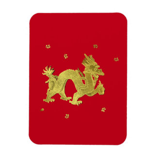 Golden Chinese Dragon Magnet