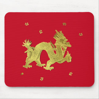 Golden Chinese Dragon Mouse Pad