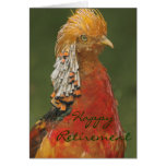 Golden/Chinese Pheasant Happy Retirement Card