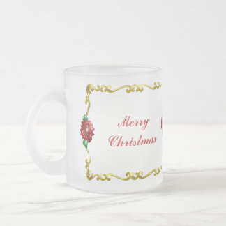 Golden Christmas #1 Frosted Glass Coffee Mug